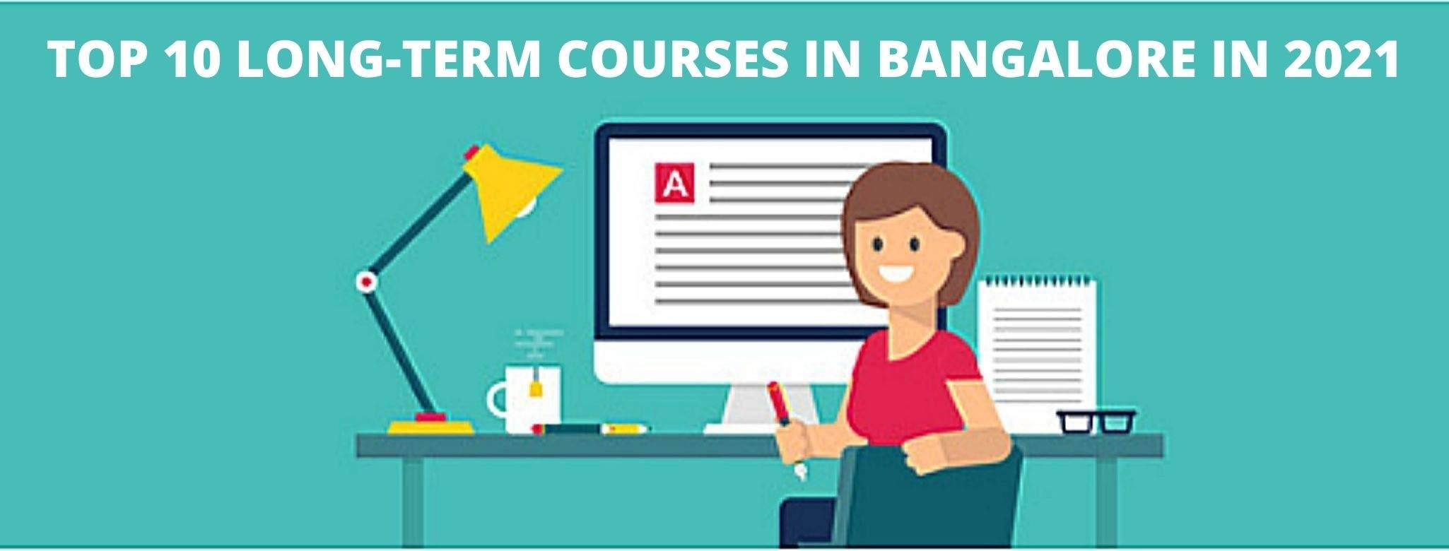 The image highlights the top 10 long-term courses in Bangalore